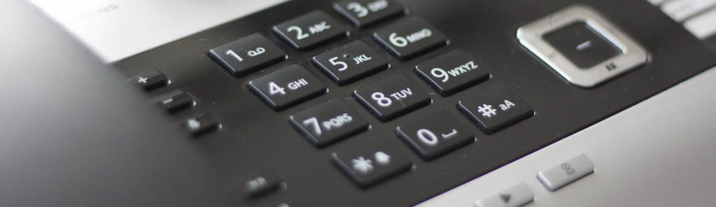keypad of a VOIP phone